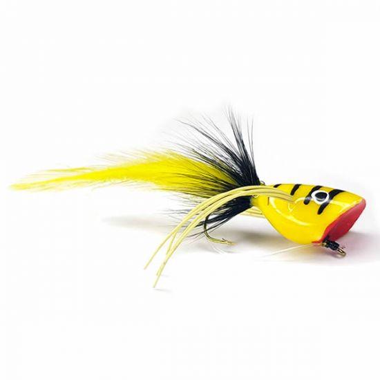 Bass Popper Black / Yellow